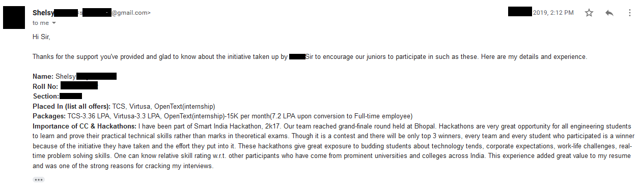 OpenText, Internship (India)